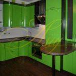 цвет-зеленый, стиль-модерн, угловая, кухня Модерн М22