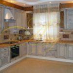 цвет- белый, стиль- классический, тип- угловая, кухня классическая К01