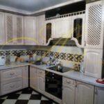 цвет- белый, стиль- классический, тип- угловая, кухня классическая К37